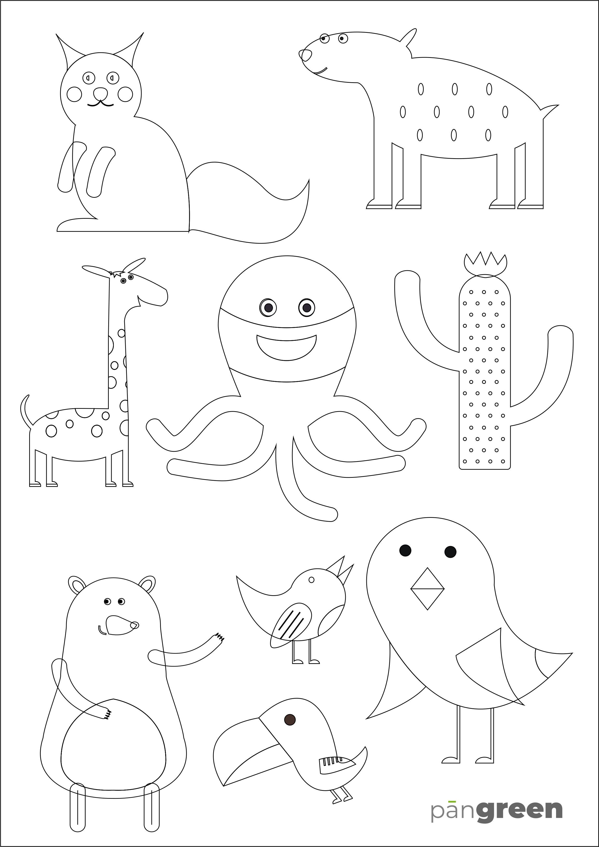 Omaľovánka so zvieratkami