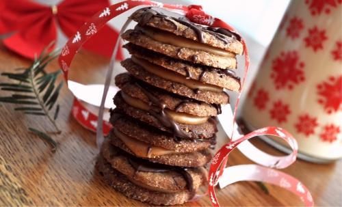Zdravé vianočné pečenie 1/3 - Špaldové sušienky so slaným karamelom