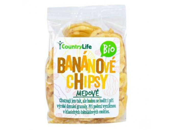 Banánové plátky BIO - 100g - Country life