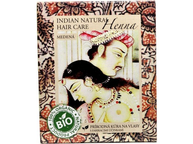 Indian Natural Henna medená - Indian natural hair care