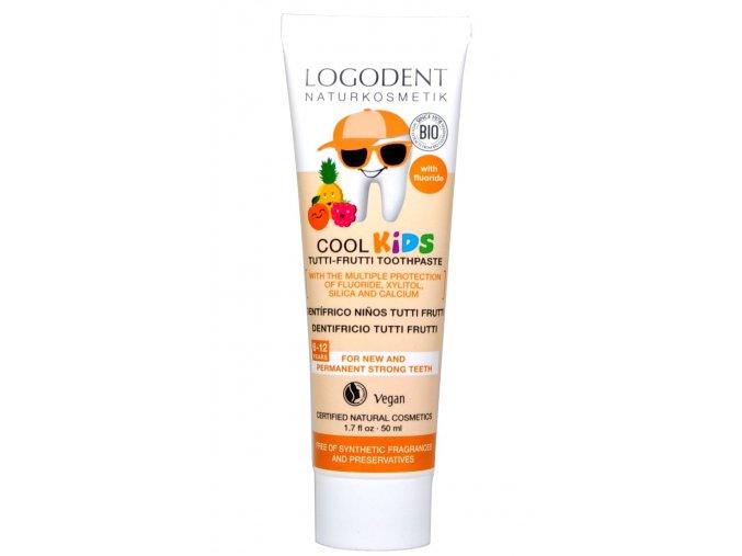 Detský zubný gel COOL KIDS Tutti frutti - 50ml - Logona