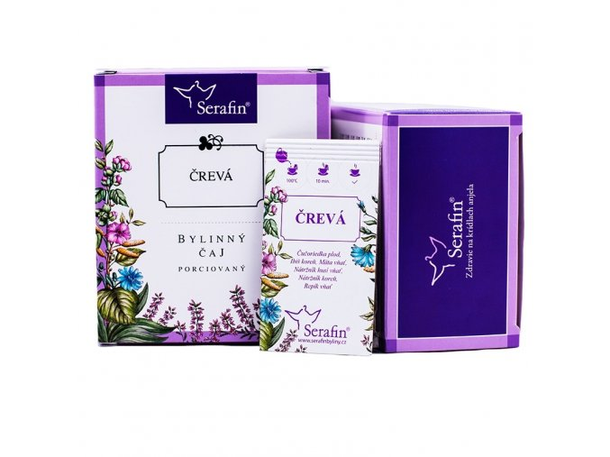 Črevá bylinný čaj porciovaný - 37,5g - Serafin
