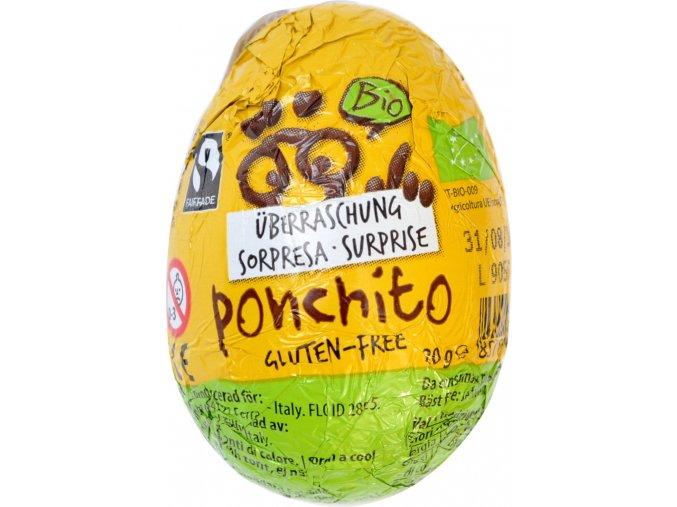 Čokoládové vajíčko s prekvapením BIO - 20g - Ponchito