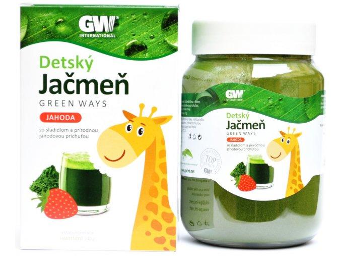 Detský jačmeň jahoda - 240g - Green ways