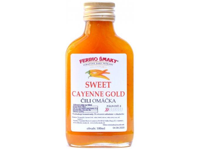 Sweet Cayenne Gold chilli omáčka - 100ml - Feriho Šmaky