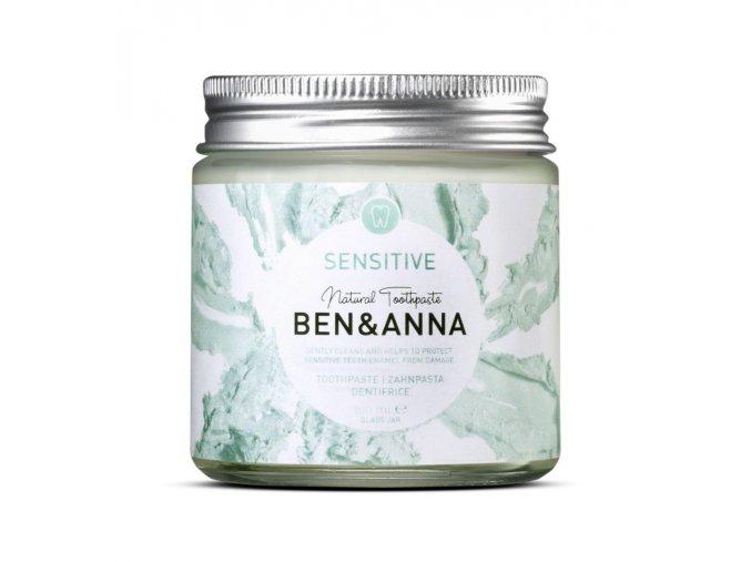 Prírodná zubná pasta v skle Ben & Anna Sensitive - 100ml - Ben & Anna