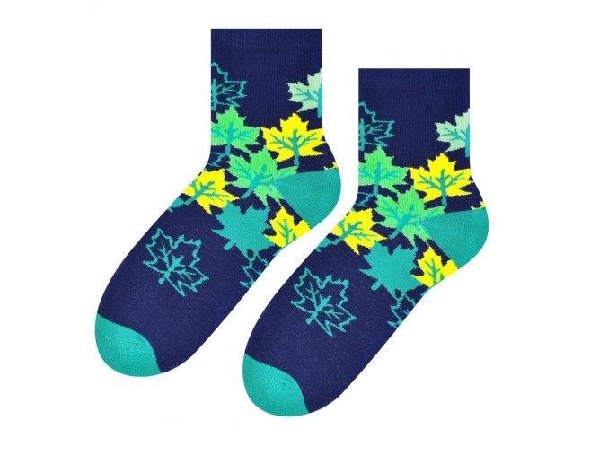 Jesenná láska ponožky tmavomodré