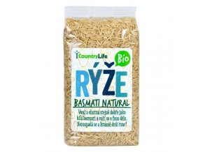 Ryža basmati natural BIO - 500g - Country life