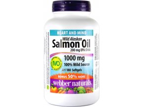 Lososový olej 1000 mg - 180 kapsulí - Webber naturals