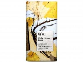 Čokoláda biela s mangom a kokosom BIO - 100g - Vivani