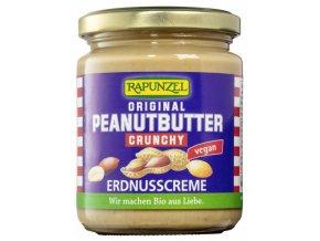Arašidová pasta chrumkavá 100% BIO - 250g - Rapunzel
