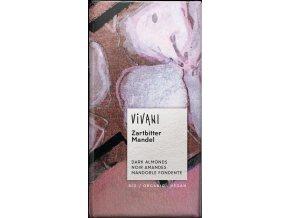 Čokoláda horká s mandľami BIO - 100g - Vivani