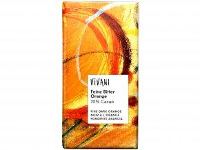 Čokoláda horká pomarančová BIO - 100g - Vivani