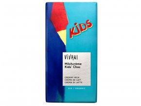 KIDS čokoláda mliečna s náplňou BIO - 100g - Vivani