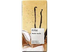 Biela čokoláda s vanilkou BIO - 100g - Vivani