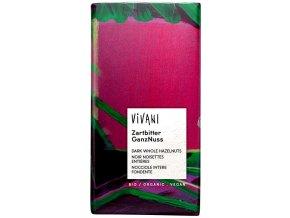 Horká čokoláda s orieškami BIO - 100g - Vivani