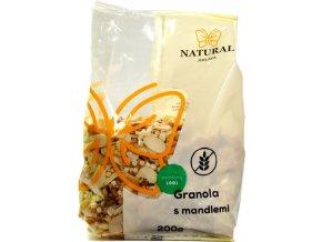 Granola bezlepková mandľová - 200g - Natural Jihlava