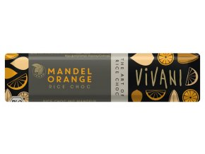 Tyčinka ryžová mandle a pomaranč BIO - 40g - Vivani