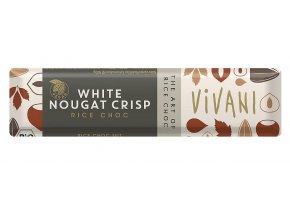 Tyčinka ryžová biely nugát BIO - 40g - Vivani