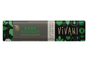 Čokoládová tyčinka nugát BIO - 40g - Vivani