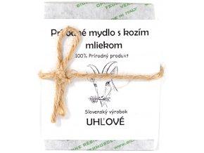 Uhľové mydlo s kozím mliekom - 120g - Sylvia