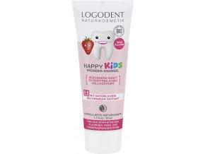 Detský zubný gel HAPPY KIDS Jahoda - 50ml - Logona