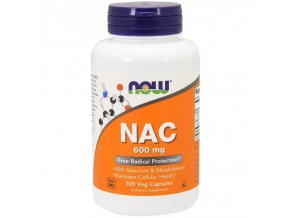 NAC 600mg N-acetyl cysteín - 100 cps. - NOW foods