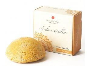Amla a vanilka (tuhý šampón) - 50g - Indian natural hair care