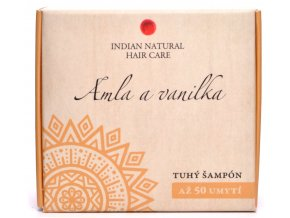 Amla a vanilka (tuhý šampón) - 50g - Indian natural hair care