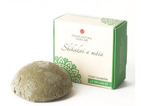 Shikakai a mäta (tuhý šampón) - 50g - Indian natural hair care