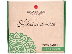 Shikakai a mäta (tuhý šampón) - 50g - Indian natural hair care