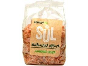 Himalájska soľ ružová hrubá - 500g - Country life