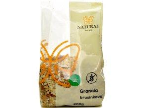 Granola bezlepková brusnicová - 200g - Natural Jihlava