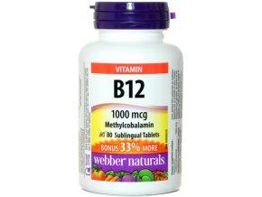 Vitamín B12 - 1000mcg - 80 tabliet - Webber naturals