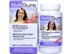 Multivitamín a minerál pre ženy 50+ - 80 kapsulí - Webber naturals