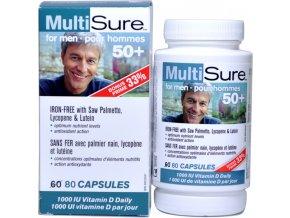 Multivitamín a minerál pre mužov 50+ - 80 kapsulí - Webber naturals