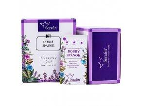 Dobrý spánok bylinný čaj porciovaný - 37,5g - Serafin