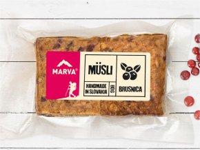 Brusnica tyčinka musli - 80g - Marva