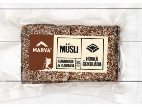 Horká čokoláda tyčinka musli - 80g - Marva