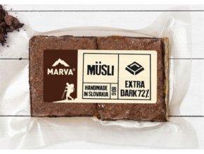 Čokoláda Extra dark 72% musli tyčinka - 50g - Marva