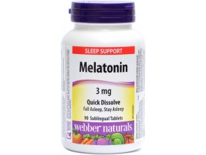 Melatonín 3mg - 90 tabliet - Webber naturals