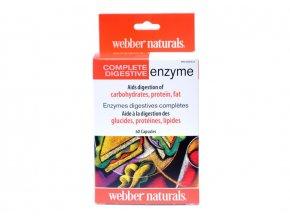 Tráviace enzýmy kompletné - 60 kapsúl - Webber naturals