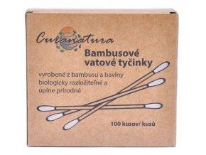 Bambusové vatové tyčinky - 100ks - Curanatura
