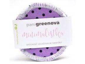 MINIMALISTKA Bavlnené odličovacie tampóny - 3ks - Pani Greenová