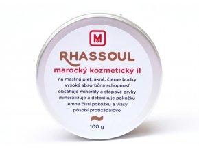 Rhassoul marocký kozmetický íl - 100g - Slovenská mydláreň