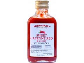 Sweet Cayenne chilli cesnak omáčka - 100ml - Feriho Šmaky
