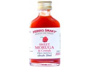 Sweet Moruga chilli cesnak omáčka - 20ml - Feriho Šmaky