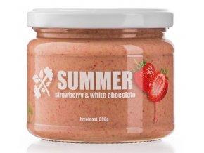 Summer krém s jahodami a white chocolate - 300g - Lifelike
