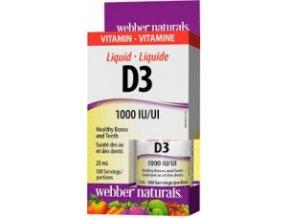 Vitamín D3 1000 IU/UI tekutý - 25ml - Webber naturals