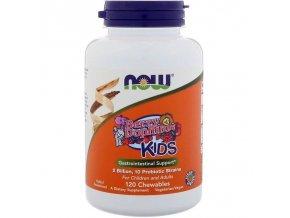 Detské probiotiká Acidophilus 2 miliardy 60 cmúľacích kapsulí NOW foods
